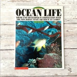 Ocean Life Theme Unit Children's Homeschool Book